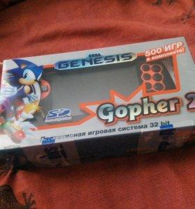 Игровая приставка. Sega Gopher 2 500+ игр