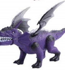 Динозавр-дракон с крыльями интерактивный со светом