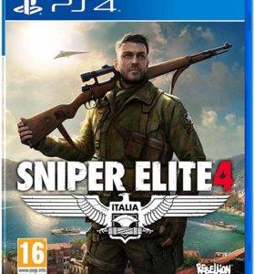 """PS4 """"Sniper Elite 4"""", новый."""