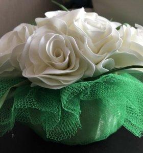 Букет роз из фоамирана