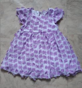 Платье с цветами для девочки