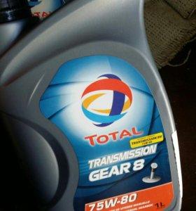 Трансмиссионное масло TOTAL TRANSM GEAR 8 75w80