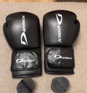 Перчатки Demix 16oz. + бинты