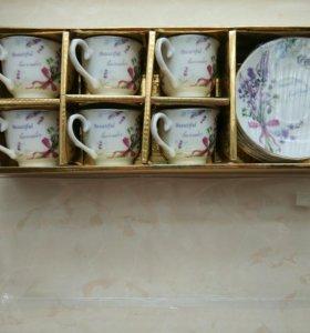 Кофейный набор фарфоровый