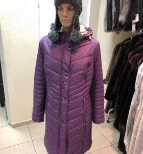 пальто с капюшоном на синтепоне
