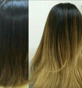 Мелирование, шатуш, балаяж, омбре, окраска волос