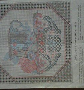 Схема для вышивки крестом + подбор ниток