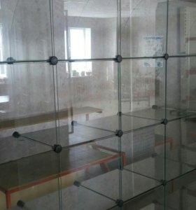 Витрина стекло наборное