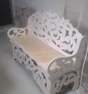 Ажурная скамейка