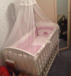 Кроватка новая со всеми комплектующими