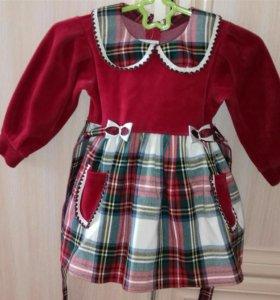 Платье велюр/шерсть