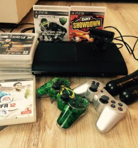 Sony PlayStation 3 с дисками и аксессуарами