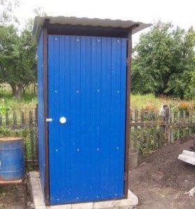 Туалет для дачи. Металл