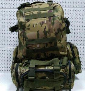 Тактический рюкзак с подсумками Байкал камуфляж