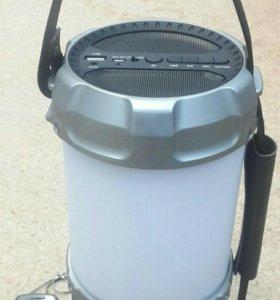 Bluetooth колонка с LED лампой 20Вт, Mp3, FM, new