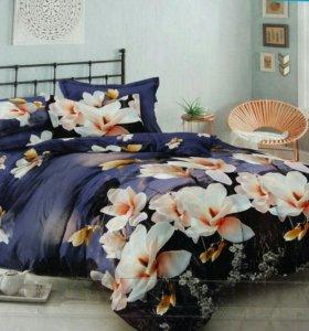 Комплекты постельного белья из 100% хлопка