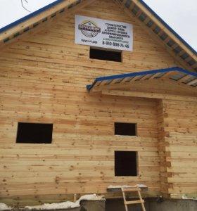 Строительство Отделка домов бань из бруса бревна