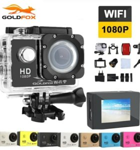 Экшн камера 1080/60 с набором креплений