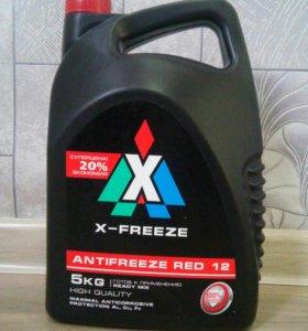 Антифриз X-Freeze Red (красный) G12 5кг