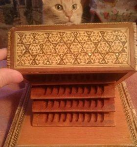 Шкатулка для сигарет  Египет 50-60 годы