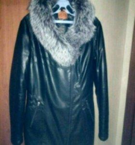 Зимняя куртка с натур мехом
