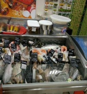 Витрина рыба на льду