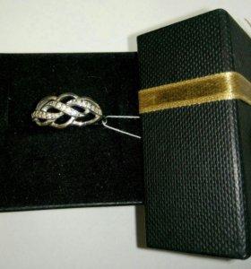 Кольцо с камнями. Серебро 925
