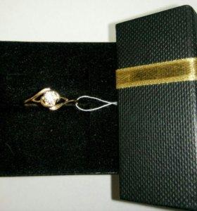 Кольцо с камнем золото 585 (14K)