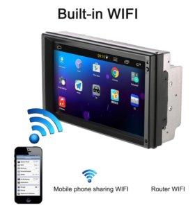 Автомагнитола 2DIN GPS Wi-Fi Bluetooth HD 1024х600