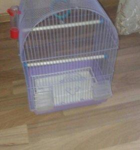 Клетка для попугая.с зеркалом