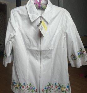 Новая с бирками белая блузка 46-48