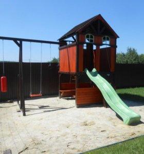 Деревянные детские спортивно-игровые площадки, дск