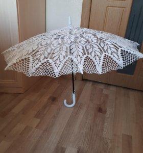 Зонт ручной работы