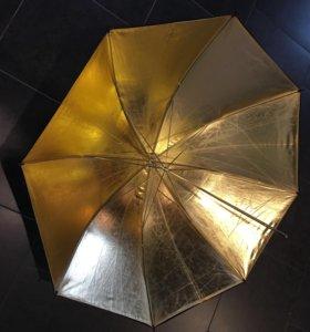 Фото зонт 150см золото