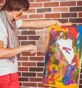 Технология изготовления Флип-флоп портрета