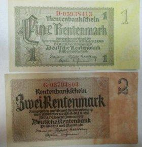 1 и 2 марки, Германия, 1937 г.