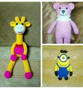 Вязаные игрушки и пинеточки