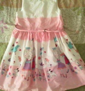Платье хлопковое