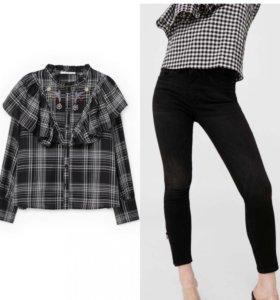 Рубашка и джинсы Mango