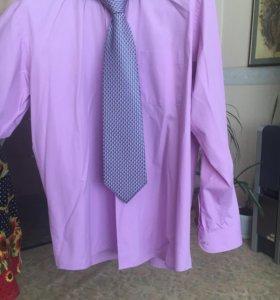 Сорочка мужская с галстуком
