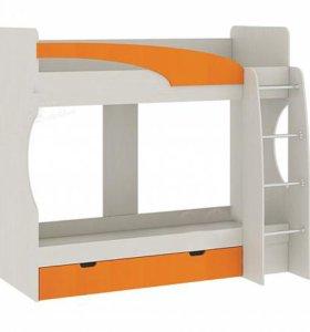 Кровать двухъярусная с ящиками 77-02