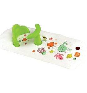 Коврик в ванну со стульчиком Happy Baby