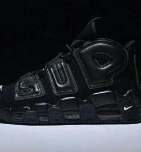 Кроссовки Nike x Supreme Airmore Uptempo