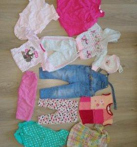 Фирменные вещи пакетом на девочку с рождения до 2