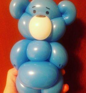 Медведь из шариков. Бюджетно и радостно!