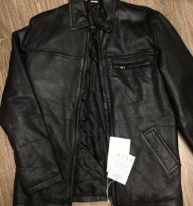 Французская мужская кожаная куртка