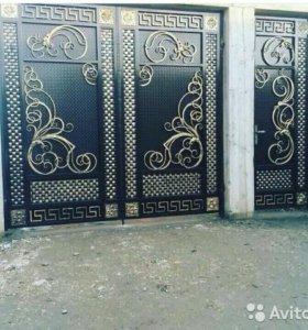 кованные ворота,двери,перила,навесы,козырьки