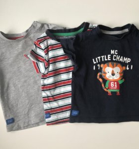Набор футболок Mothercare 68-74 размер