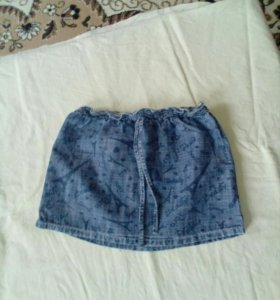Юбкая джинсовая