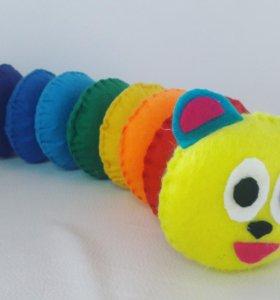 Развивающая игрушка из фетра